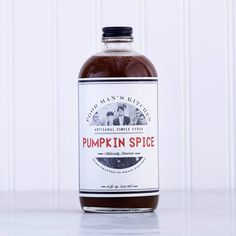 Poor Man's Kitchen's pumpkin spice syrup makes your DIY Pumpkin Spice Latte routine cheaper and easier. Whiskey Bottle, Vodka Bottle, Best Food Gifts, Cocktail Desserts, Cocktails, National Coffee Day, Pumpkin Spice Syrup, Gourmet Gift Baskets, Spiced Coffee