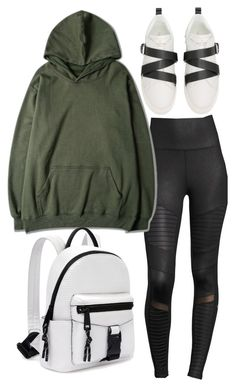 """Untitled #784"" by above3600 ❤ liked on Polyvore featuring Alo Yoga, WithChic, Valentino and Nine West"
