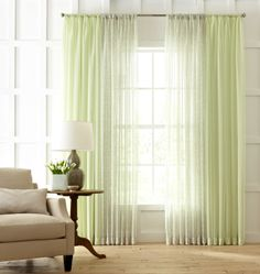 Sheer #curtains lighten up a room for #summer. #MarthaWindow #JCPenney #redecorate