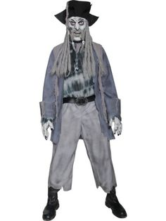 Shop this Ghost Ship Pirate Men's Costume online now at Heaven Costumes. Haunt your ship through Halloween day and night dressed as this zombie ghost pirate for men by Smiffy's. Halloween Zombie, Mens Halloween Fancy Dress, Pirate Fancy Dress, Halloween Season, Halloween Ball, Halloween Parade, Halloween 2017, Costume Halloween, Happy Halloween