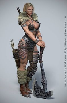 Gilberto Magno is an artist specialized in Character Modeling for next-gen games, with professional skills in the development of High Poly,. Making of Female Character Norse with Zbrush Warrior Girl, Fantasy Warrior, Warrior Princess, Female Viking Warrior, Warrior Queen, Female Warriors, Viking Woman, Fantasy Women, Fantasy Girl