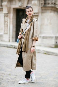 モデルの私服 パリ