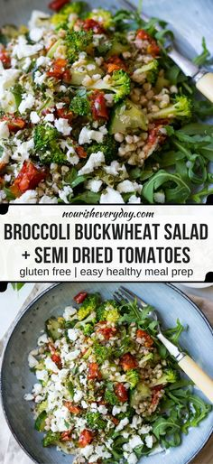 Broccoli Buckwheat Salad   recipes   recipe   appetizers   apps   party food   parties low carb   healthy   fresh   clean eating   healthyish   low ingredient   easy   the easiest   quick   simple   make ahead   salad   veggies   sides  