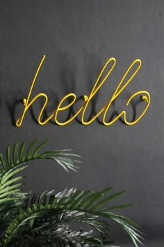 'Hello' Coat Rack - Yellow