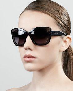Marc Jacobs Thick-Rim Cat-Eye Sunglasses - Neiman Marcus