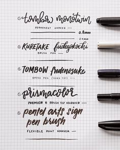 "2,193 Likes, 44 Comments - Passion Planner (@passionplanner) on Instagram: ""Our Top 5 FAVORITE brush pens!  If you're a pro handletterer or just enjoy the satisfaction of…"""