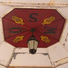Coreto da SM5O, interior da cúpula Hand Fan, Gazebo, 19th Century, Interiors