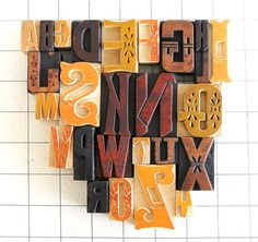 A+to+Z+26+Letterpress+Wooden+Alphabet+Collection+by+vintagemarvels,+$89.00