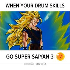 If Goku was a drummer. #ElectronicsStore