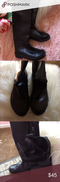 Tall leather Riding Boots Beautiful great condition tall leather riding boots minor wear on one of the boots. No other defects or visible wear come with a shoe box 47 Shoes Combat & Moto Boots