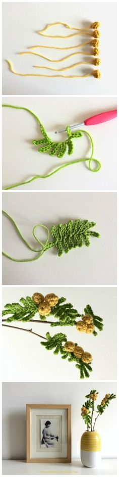 Crochet Mimose , full ITA+ ENG tutorial on www.vendettauncinetta.com