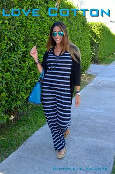 Love Cotton - Long Stripes Dress