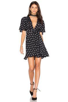 House of Harlow 1960 x REVOLVE Harper Wrap Dress in Polka Dot   REVOLVE