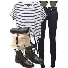 Untitled #18165 by florencia95 on Polyvore featuring rag & bone, rag & bone/JEAN, Toast, Eddie Borgo, Ray-Ban and H&M