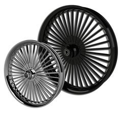Custom Motorcycle Wheels, Rims & Parts for Harley Davidson, Metric Cruisers, Victory and Sportbikes. Custom Motorcycle Wheels, Custom Harleys, Custom Wheels, Custom Motorcycles, Harley Wheels, Kawasaki Motorcycles, Black Polish, Rubber Tires, Harley Davidson Bikes