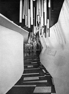 Entrance to the Marconi Exhibition Genova 1955  From Gebrauchsgraphik No. 8, 1956. Blogged at Aqua-Velvet.