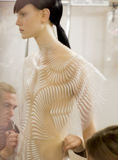 DIVINE! - Backstage at Iris Van Herpen Haute Couture. Photos by Kevin Tachman.