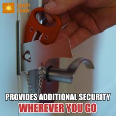 Clever Gadgets, Gadgets And Gizmos, Home Gadgets, Pocket Door Lock, Just For Today, Home Defense, In Case Of Emergency, Useful Life Hacks, Life Savers
