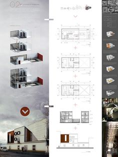 The fact that design presentations can speak louder than words and numbers is important. This poster provides the project in 3D images, trying to impress the reader. But at the same time there is the 2D overview of the project telling the reader the specifications, as measurements and other primary design criteria.