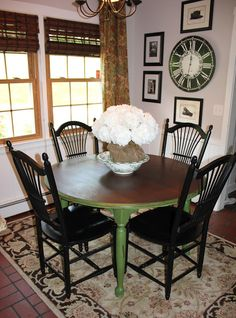 My Passion For Decor: Green With Envy....The Kitchen Table Makeover