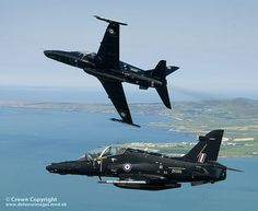 The RAF's latest fast jet trainer, the Hawk T2 is pictured during a flight over the beautiful scenery of North Wales.
