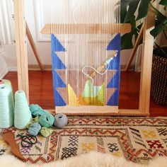 What's on the loom today? A piece that evokes a calm and uplifting perspective. A gift from mother to child. #ontheloom