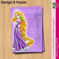Rapunzel Tangled Invitation Printable, Birthday Party You-Print Custom Personalized Digital Photo Card 4x6 or 5x7