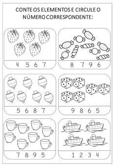 Criar Recriar Ensinar: NÚMEROS Preschool Learning, Preschool Activities, Activity Sheets For Kids, Math 2, Preschool Printables, Working With Children, Crafts For Kids, Lucca, Blog