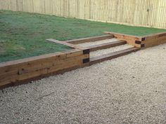 Sleeper Retaining Wall - Frogley Fencing