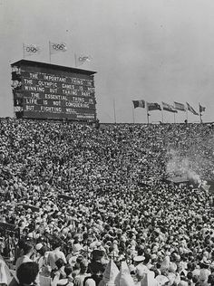 The Olympic Games restored and opened in London. 29th July 1948.