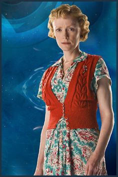 BBC One - Doctor Who, The Doctor, the Widow and the Wardrobe - Madge Arwell Doctor Who Outfits, First Doctor, Bbc One, Red Sweaters, Pop Culture, Vintage Outfits, Magic Wands, Sari, Style Inspiration