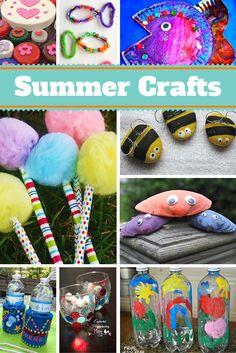 Summer Crafts for Kids #summer #crafts
