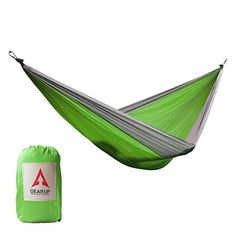 GEARUP Ultralight Portable Single Camping Hammock With Carabiners And Hanging Ropes >>> Be sure to check out this awesome product. (This is an affiliate link and I receive a commission for the sales)