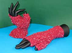 knitting pattern  Beaded Easy Lace Fingerless by madmonkeyknits, $3.95