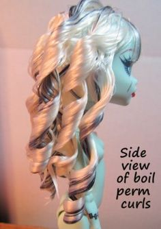 How to Curl Doll Hair- Learn to Boil Perm your Barbie or Monster High Doll's Hair
