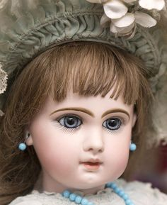 """24"""" (61 cm.) Antique French Very Beautiful French Bisque Bebe Jumeau, from respectfulbear on Ruby Lane"""