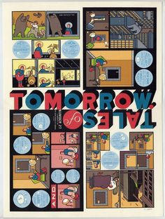 Chis Ware – Tales of Tomorrow Tales Of Tomorrow, Comic Books Art, Book Art, Chris Ware, Lucky Luke, Picture Story, Children Images, Graphic Novels, Drawing For Kids