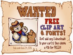 Hey pardner... are you lookin' for some FREE clip art & fonts?  Well yeeeeeehaw!  That's real easy this week at DJ Inkers!  All you have to do is add any 3 downloads to your shopping cart... and then you can select a 4th download (of equal or lesser value) for FREE!!  But hurry on down to our website & shop for smiles... this sale ends June 24, 2015.