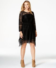 American Rag Plus Size Handkerchief-Hem Lace Dress, Only at Macy's - Dresses - Plus Sizes - Macy's