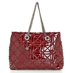 "BIG BUDDHA ""Perry"" Quilted Patent Tote at HSN.com."