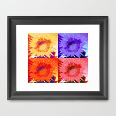 Pop Art Sunflower Framed Art Print by Judy Palkimas