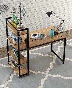 Computer DeskModern Style Office WorkstationHome Wood & Metal – Office Desk – Id… – Office Wood Desk Modern Wood Desk, All Modern Furniture, Metal Furniture, Furniture Design, Furniture Removal, Cheap Furniture, Pallet Furniture, Smart Furniture, Repurposed Furniture