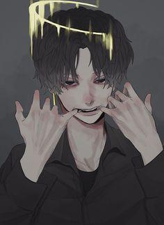Dark Anime Guys, Cool Anime Guys, Handsome Anime Guys, Hot Anime Boy, Aesthetic Art, Aesthetic Anime, Manga Art, Anime Art, Gothic Anime