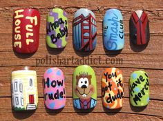 These are the coolest nails I've ever seen!! I love Full House!!! http://www.polishartaddict.com/2013/09/full-house-nail-art.html