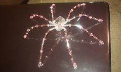 Pink Beaded Spider