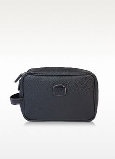 €99.00 | Magellano Black Travel Beauty Case is crafted in a durable, waterproof embossed synthetic material, that is easy to clean and comes with Tuscan leather accents. The masculine inspired Magellano collection was created for those who travel hard but demand a refined elegance.  Featuring leather handle, duo top zip tab closure, interior zipped pocket, mesh side compartments and press stud detachable pouch so that you can have your most used toiletries at hand.