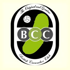 British Cucumber Club FC por Gon Rivas Lululemon Logo, Cucumber, British, Symbols, Letters, Club, Logos, Creativity, Projects