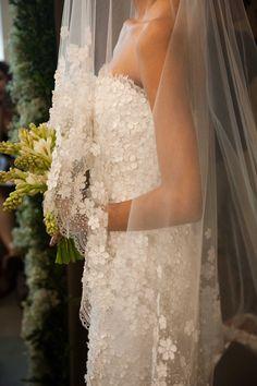 Daisy wedding veil and