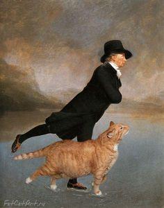 Top 35 des incrustes de Zarathustra le gros chat roux dans des peintures classiques