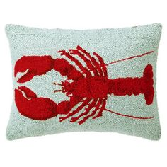 Lobster Pillow 18x14, $32, now featured on Fab.